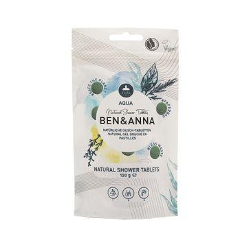 Ben&Anna – Natural Shower Tablets naturalne tabletki do mycia ciała Aqua (120 g)