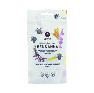 Ben&Anna – Natural Shower Tablets naturalne tabletki do mycia ciała Velvet (120 g)