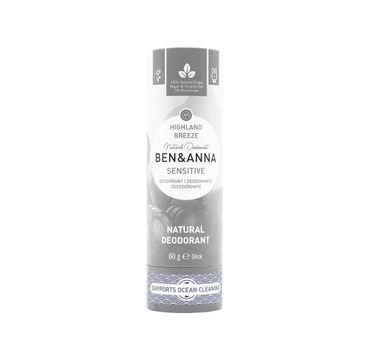 Ben&Anna – Sensitive Natural Deodorant naturalny dezodorant do skóry wrażliwej Highland Breeze (60 g)