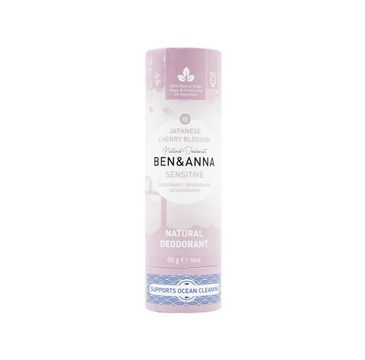 Ben&Anna – Sensitive Natural Deodorant naturalny dezodorant do skóry wrażliwej Japanese Cherry Blossom (60 g)