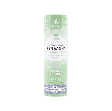 Ben&Anna – Sensitive Natural Deodorant naturalny dezodorant do skóry wrażliwej Lemon & Lime (60 g)