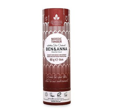 Ben&Anna Natural Soda Deodorant naturalny dezodorant na bazie sody sztyft kartonowy Nordic Timber 60g