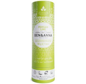 Ben&Anna Natural Soda Deodorant naturalny dezodorant na bazie sody sztyft kartonowy Persian Lime 60g