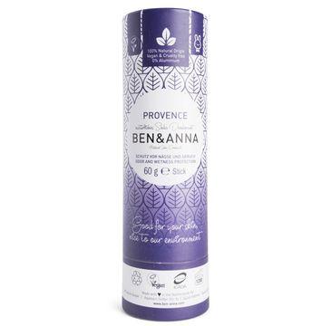Ben&Anna Natural Soda Deodorant naturalny dezodorant na bazie sody sztyft kartonowy Provence 60g
