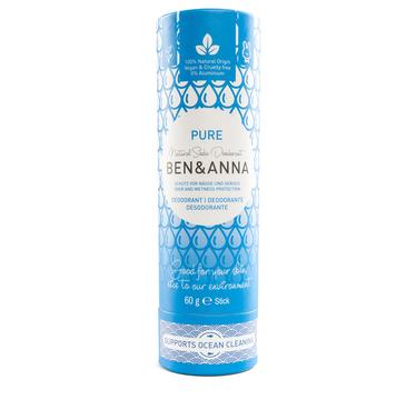 Ben&Anna Natural Soda Deodorant - naturalny dezodorant na bazie sody sztyft kartonowy Pure 60 g