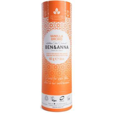 Ben&Anna Natural Soda Deodorant naturalny dezodorant na bazie sody sztyft kartonowy Vanilla Orchid 60g