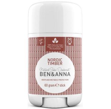 Ben&Anna Natural Soda Deodorant naturalny dezodorant na bazie sody sztyft plastikowy Nordic Timber 60g