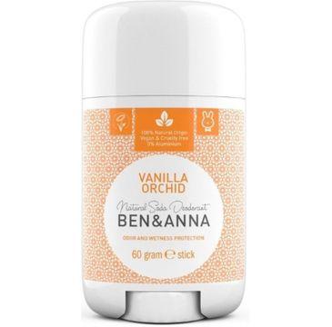 Ben&Anna Natural Soda Deodorant naturalny dezodorant na bazie sody sztyft plastikowy Vanilla Orchid 60g