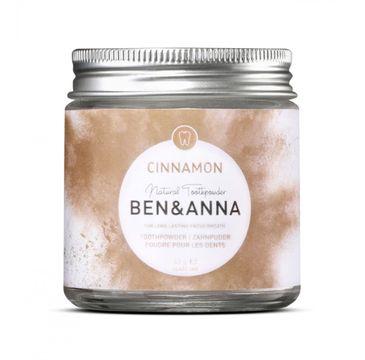 Ben&Anna Natural Toothpawder naturalny odświeżający proszek do zębów z cynamonem 45g