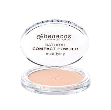 Benecos Natural Compact Powder naturalny puder w kompakcie Piaskowy (9 g)