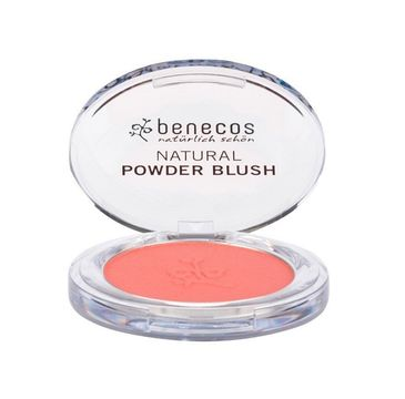Benecos Natural Powder Blush naturalny róż do policzków Sassy Salmon (5.5 g)