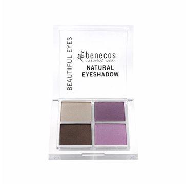 Benecos Natural Quattro Eyeshadow paletka 4 naturalnych cieni do powiek Beautiful Eyes (8 g)