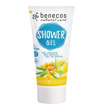 Benecos Natural Shower Gel naturalny żel pod prysznic Rokitnik & Pomarańcza (200 ml)