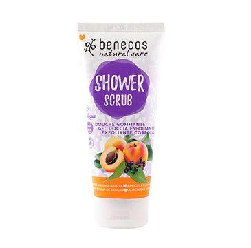 Benecos Natural Shower Scrub naturalny peeling do ciała Morela & Czarny Bez (200 ml)