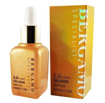 Bergamo Specialist S.9 Collagen Wrinkle Care przeciwzmarszczkowe serum do twarzy z kolagenem (30 ml)