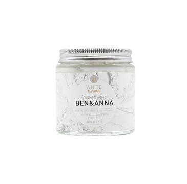 Ben&Anna – Natural Toothpaste naturalna wybielająca pasta do wrażliwych zębów z fluorem White Fluoride (100 ml)
