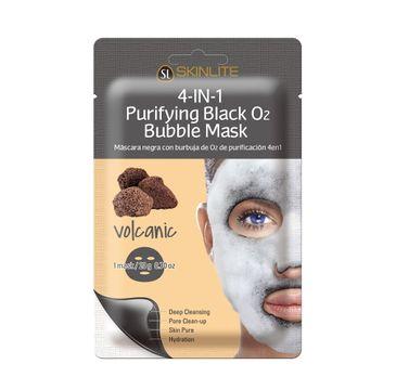 SKINLITE 4-in-1 Purifying Black O2 Bubble Mask – maska bąbelkująca w płachcie Lawa (1 szt.))
