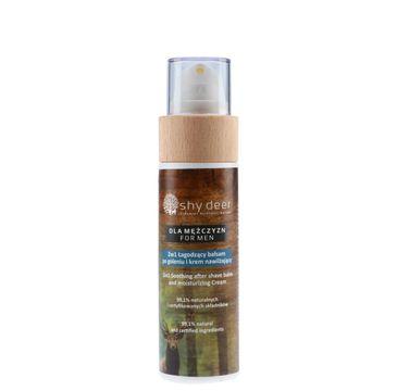 Shy Deer – For Men 2w1 łagodzący balsam po goleniu i krem nawilżający (100 ml)