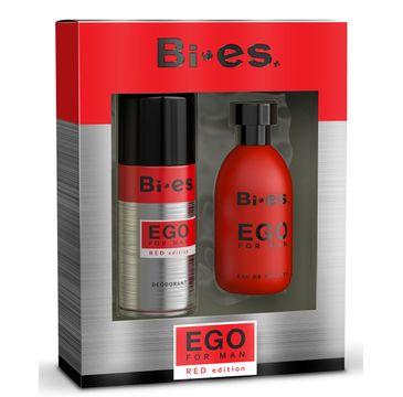 Bi-es Ego Red komplet (woda toaletowa 100 ml + dezodorant 150 ml)