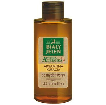 Biały Jeleń Apteka Alergika Aksamitna kuracja do mycia twarzy 150 ml