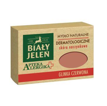 Biały Jeleń Apteka Alergika mydło do skóry naczynkowej glinka czerwona 125 g