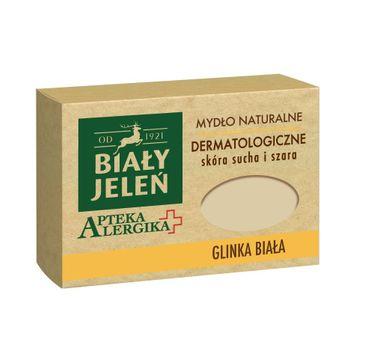 Biały Jeleń Apteka Alergika mydło do skóry suchej i szarej naturalne glinka biała 125 g