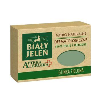 Biały Jeleń Apteka Alergika mydło do skóry tłustej i mieszanej glinka zielona 125 g