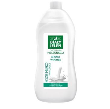 Biały Jeleń mydło w płynie kozie mleko (1 l)