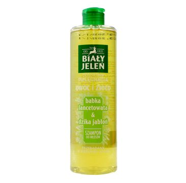 Biały Jeleń Owoc i Zioło Szampon do włosów oczyszczający Babka Lancetowata & Dzika Jabłoń 400 ml