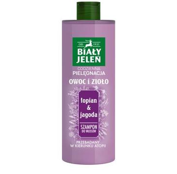Biały Jeleń Owoc i Zioło szampon do włosów łopian i jagoda (400 ml)