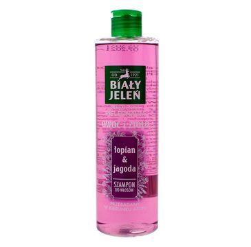 Biały Jeleń Owoc i Zioło szampon do włosów oczyszczający Łopian & Jagoda 400 ml
