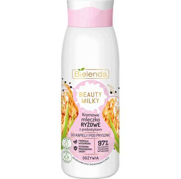 Bielenda – Kremowe Mleczko Ryżowe do kąpieli i pod prysznic (400 ml)