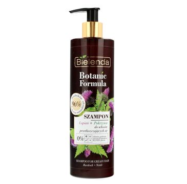 Bielenda Botanic Formula (Łopian + Pokrzywa szampon do włosów przetłuszczających się 400 ml)