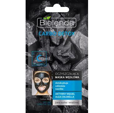 Bielenda Carbo Detox maska do cery suchej i wrażliwej węglowa oczyszczająca 8 g