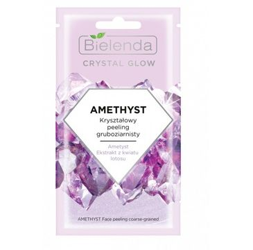 Bielenda – Crystal Glow Amethyst Kryształowy peeling gruboziarnisty (8 g)