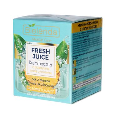 Bielenda Fresh Juice – krem booster rozświetlający z wodą cytrusową Ananas (50 ml)