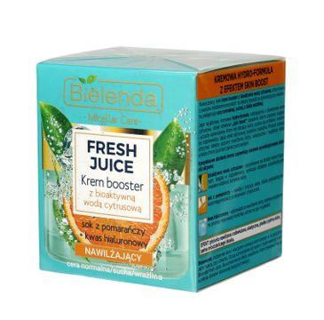 Bielenda Fresh Juice – krem booster nawilżający z wodą cytrusową Pomarańcza (50 ml)