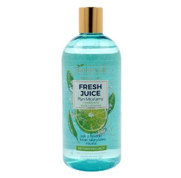 Bielenda Fresh Juice – płyn micelarny detoksykujący z wodą cytrusową Limonka (500 ml)