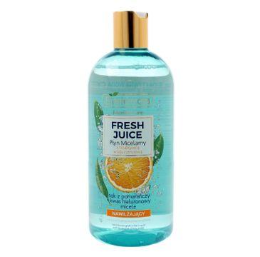 Bielenda Fresh Juice – płyn micelarny nawilżający z wodą cytrusową Pomarańcza (500 ml)
