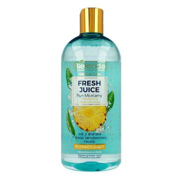 Bielenda Fresh Juice – płyn micelarny rozświetlający Ananas (500 ml)