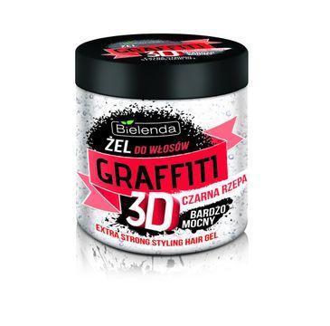 Bielenda Graffiti 3D – żel do układania włosów z czarną rzepą bardzo mocny (250 ml)