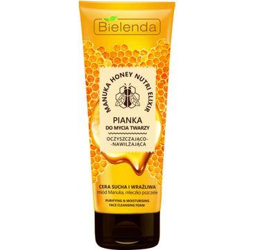 Bielenda Manuka Honey Nutri Elixir – pianka do mycia twarzy oczyszczająco-nawilżająca (150 g)