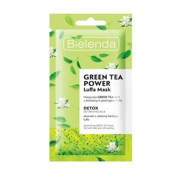 Bielenda – Maseczka Green Tea 2w1 z Peelingiem Luffa Detoksykująca (8 g)