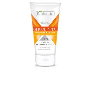 Bielenda Neuro Glicol + Vit. C – emulsja eksfoliująca do mycia twarzy (150 ml)