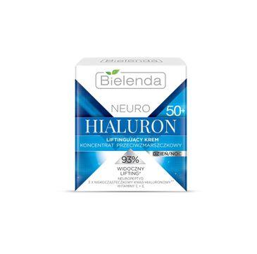 Bielenda Neuro Hialuron – krem-koncentrat liftingujący przeciwzmarszczkowy na dzień i noc 50+ (50 ml)