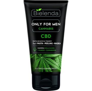 Bielenda Cannabis – pasta do mycia twarzy 3w1 CBD Only For Men (150 g)