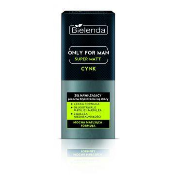 Bielenda Only For Men Super Matt – żel nawilżający przeciw błyszczeniu się skóry (50 ml)