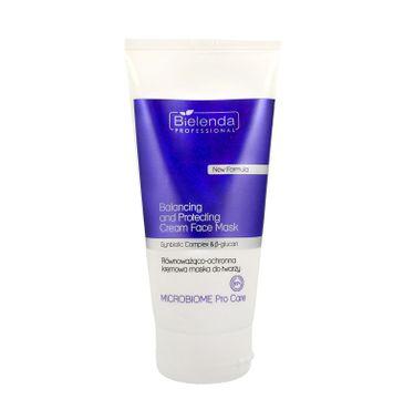 Bielenda Professional Microbiome Pro Care Synbiotic Complex & β-glucan Równoważąco-ochronna kremowa maska do twarzy (175  ml)