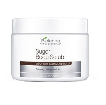 Bielenda Professional – Sugar Body Scrub cukrowy peeling do ciała Brown Cane Sugar & Grapefruit Oil (600 g)