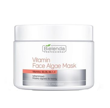 Bielenda Professional – Vitamin Face Algae Mask - witaminowa maska algowa do twarzy słoik (190 g)